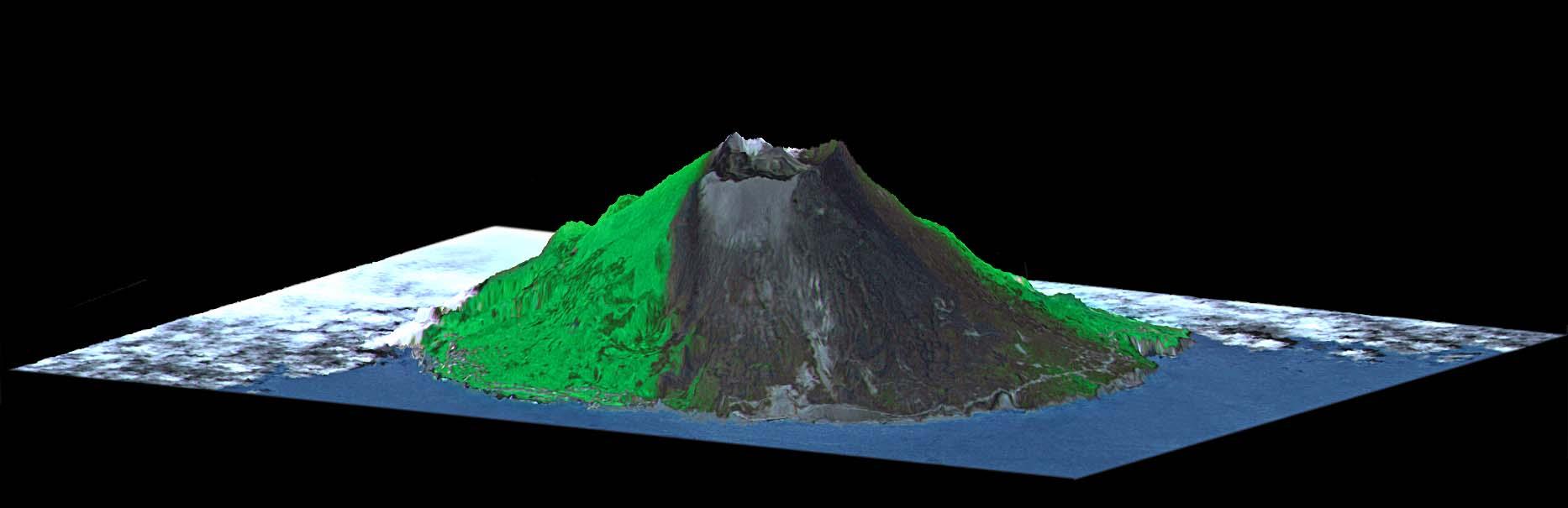 Volcano animation