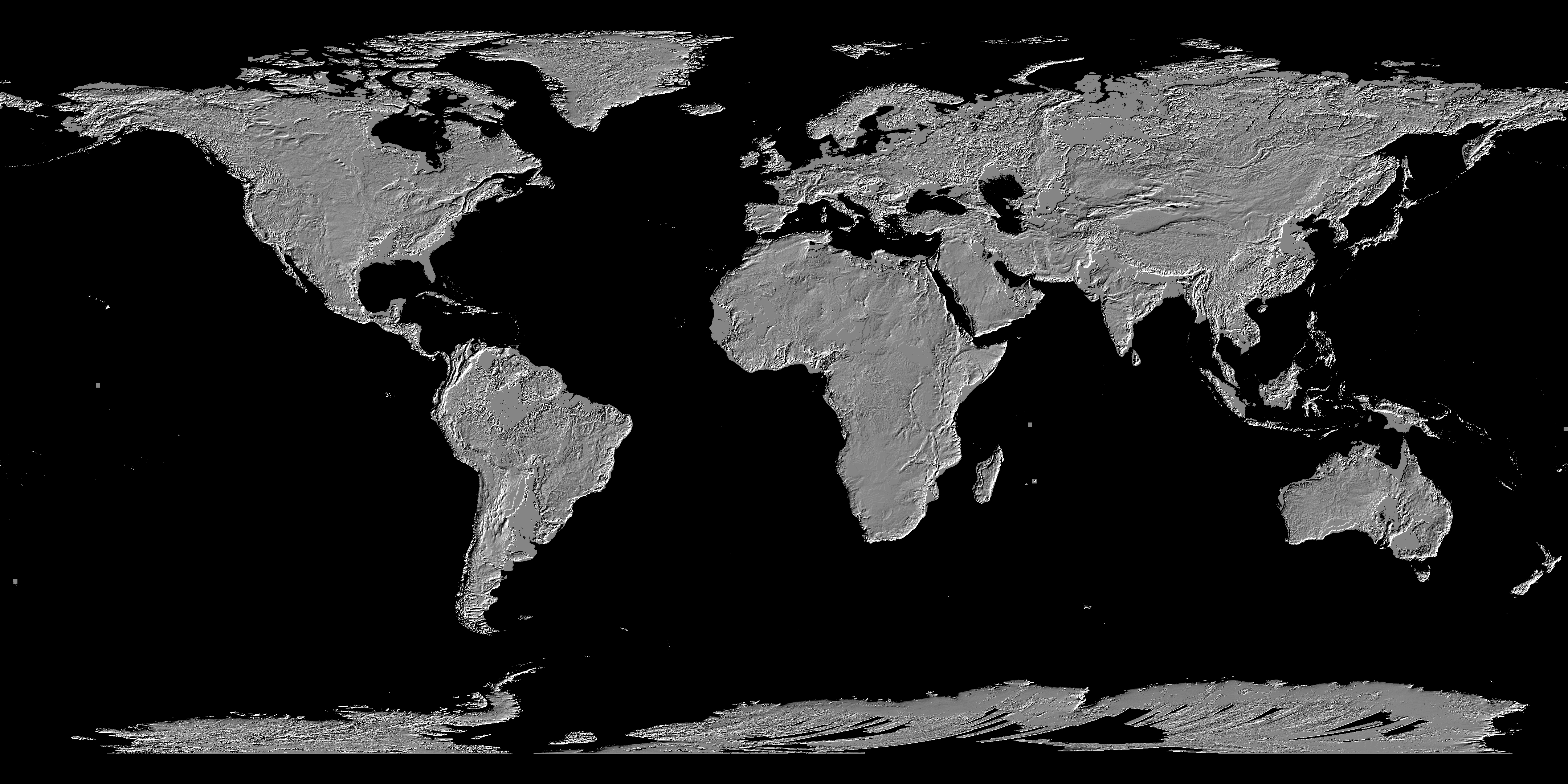 ASTER Global Digital Elevation Map - Grayscale height map us